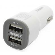 Авто-адаптер 12v\24v->2*USB 1A+2,1A Remax CC201