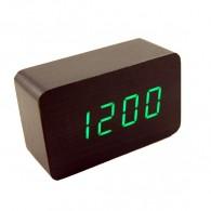Часы настольные VST-863-4 зел.цифры, кор.корпус (дата, темп., будильник,4*ААА)