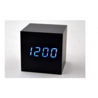 Часы настольные VST-869-5 син.цифры, чер.корпус (дата, темп.,будильник,3*ААА)