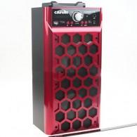 Колонка портативная CN-S2014FM-BT (USB /SD/FM/дисплей/пульт) красная