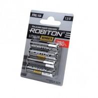 Батарейка Robiton FR06 BL4/80 (АА литий!!!!)