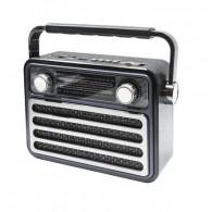 Радиоприемник М-182ВТ (Bluetooth/USB/microSD/Fm/AUX/акб) черный Meier
