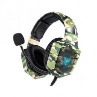 Наушники K8 игровые с микрофоном хаки (3,5 джек с 3мя контактами!)