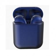 Гарнитура Bluetooth i12 темно-синяя (118463)