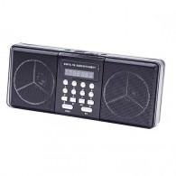 Радиоприемник HN-1821LED (USB/microSD/акб BL-5C/3*AA) черный Haoning