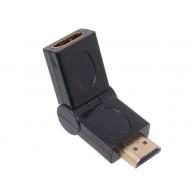Переходник HDMI (M) - HDMI (F) Orient C070 180град