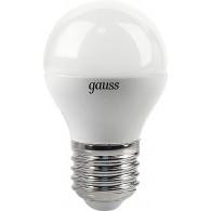 Лампа светодиодная Gauss G45 6W 4100K E27 (3 лампы в упак)