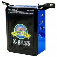 Радиоприемник XB-902 (Fm/USB/SD/microSD/акб/4*R06) синий Waxiba