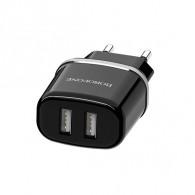 Адаптер 220V->2*USB 2.1A Borofone (BA25A)