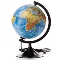 Глобус с подсветкой 21см физико-полит карта с рельефом (1072904)