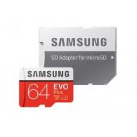 Карта памяти microSDHC Samsung 64Gb Class 10 Evo Plus U3 с адаптером