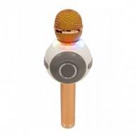 Микрофон со встр.колонкой для караоке (microSD, Bluetooth) WS-878 золото