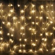 Уличная штора 925 LED 2,4*3м тепл.бел., мигает бел,пр.шнур (OLDCL925-TWW-E-F)