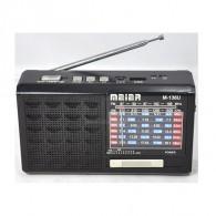 Радиоприемник М-U136 (Fm/microSD/AUX/акб/3*AAA) чер Meier (8х14х4см)