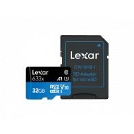 Карта памяти microSDHC Lexar 32Gb Class 10 UHS-1 633x (95 Mb/s) с адапт