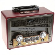 Радиоприемник PX-2000BT\ch (USB /microSD/FM/дисплей) серый