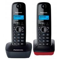 Телефон беспроводной Panasonic KX-TG1612 RU3(2 трубки) черный\красный