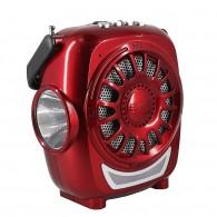 Мини-колонка Activ RS-607U (USB, SD, АКБ, 4*АА, фонарь) красная