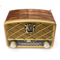 Радиоприемник М-138ВТ (Bluetooth/USB/microSD/Fm/AUX/акб) корич. Meier