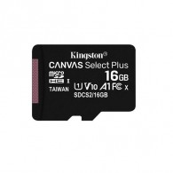 Карта памяти microSDHC Kingston 16Gb Class10 CanvasSelect + A1 без адап