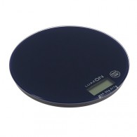 Весы кухонные до 5кг, круглые темно-синие (3549055)