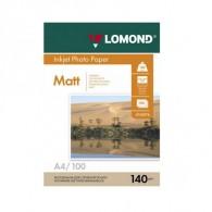 Бумага Lomond матовая A4, 140г /100 листов (0102074)/12