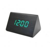 Часы настольные VST-864-4 зел.цифры, чер.корпус (дата, темп., будильник,4*ААА)