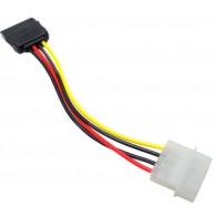 Кабель питания SATA Molex (4pin,БП) ->SATA (устройство) 14см Orient