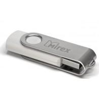 Флэш-диск Mirex 8Gb USB 2.0 SWIVEL белый