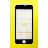 Защитное стекло 3D для iPhone 7\8 черное(102977)