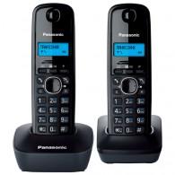 Телефон беспроводной Panasonic KX-TG1612 RUH(2 трубки) черный\серый