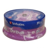 Verbatim DVD+R 4.7Gb 16x Cake box /25
