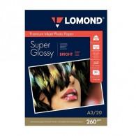 Бумага Lomond суперглянцевая A3, 260 г /20л (1103130) /10