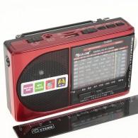 Радиоприемник RX-6688ch (USB+microSD,фонарь) красный