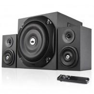 Колонки Crown 2.1 CMBS-401 (20+2*10Вт, Bluetooth, Fm, USB, SD, пульт) черные