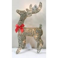 """Фигура новогодняя """"Сверкающий олень"""" средняя со светод.подсветкой 45см"""