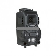 """Колонка портативная 8"""" ZQS-8101 (Bluetooth/USB /microSD/FM/ПДУ/ 1 микр) черная"""