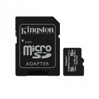 Карта памяти microSDHC Kingston 16Gb Class10 CanvasSelect Plus A1 с адапт