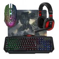 Комплект Defender Target (клавиатура+мышь+гарнитура+коврик) игровой проводной
