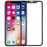 Защитное стекло 5D для iPhone X черное