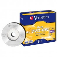 Verbatim DVD+RW 8cm 1.4Gb 4х Jewel/5