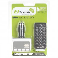 MP3 FM модулятор автомоб. Eltronic 9905 (2USB)