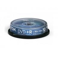 TDK DVD+R 4.7Gb 16x Cake box /10