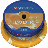 Verbatim DVD-R 4.7Gb 16x Cake box /25