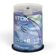 TDK DVD+R 4.7Gb 16x Cake box /100