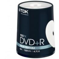 TDK DVD+R 4.7Gb 16x Cake box /100 Printabe