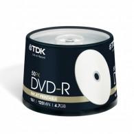 TDK DVD-R 4.7Gb 16x Cake box /50 Printable
