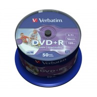 Verbatim DVD+R 4.7Gb 16x Cake box /50 Printable