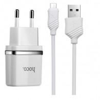 СЗУ Hoco + кабель microUSB (1A) (C11)