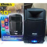 "Колонка портативная 10"" A10-22 (Bluetooth/USB /microSD/FM/ПДУ/беспр.микр) чер"